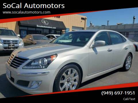 2013 Hyundai Equus for sale at SoCal Automotors in Costa Mesa CA