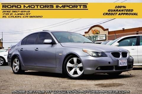 2005 BMW 5 Series for sale at Road Motors Imports in El Cajon CA