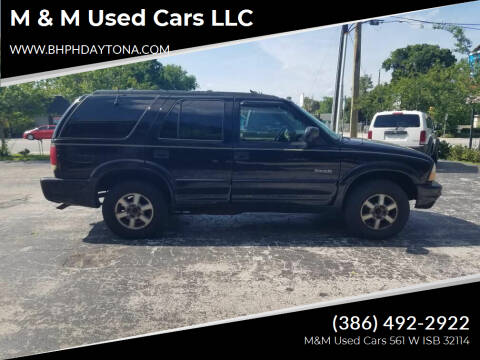 2001 Oldsmobile Bravada for sale at M & M Used Cars LLC in Daytona Beach FL