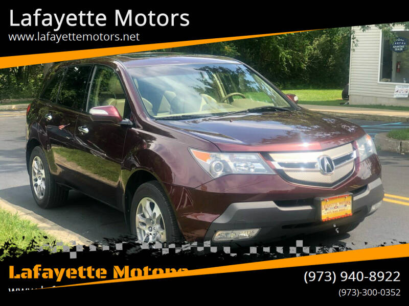 2008 Acura MDX for sale at Lafayette Motors in Lafayette NJ