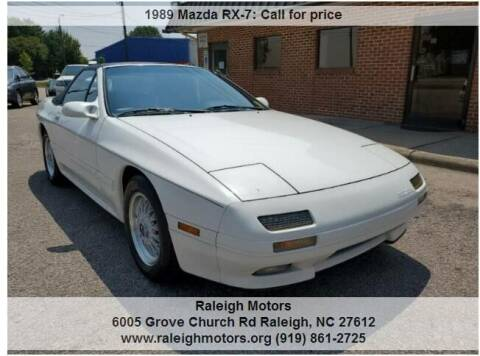 1989 Mazda RX-7 for sale at Raleigh Motors in Raleigh NC