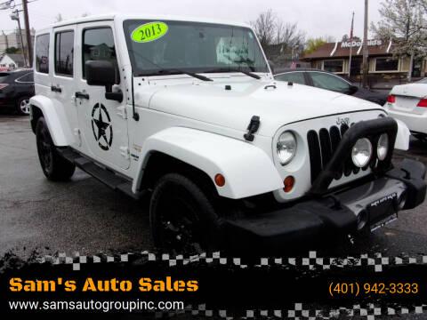 2013 Jeep Wrangler Unlimited for sale at Sam's Auto Sales in Cranston RI