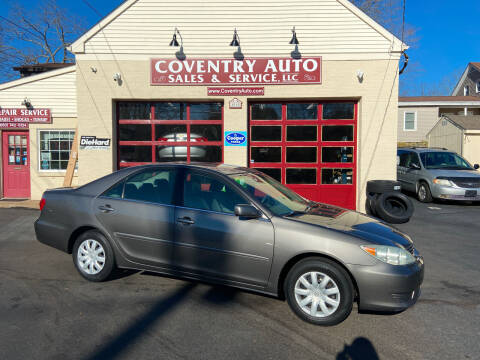 2005 Toyota Camry for sale at COVENTRY AUTO SALES in Coventry CT