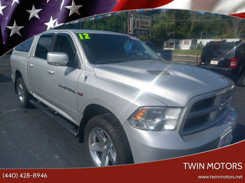 2012 RAM Ram Pickup 1500 for sale at TWIN MOTORS in Madison OH
