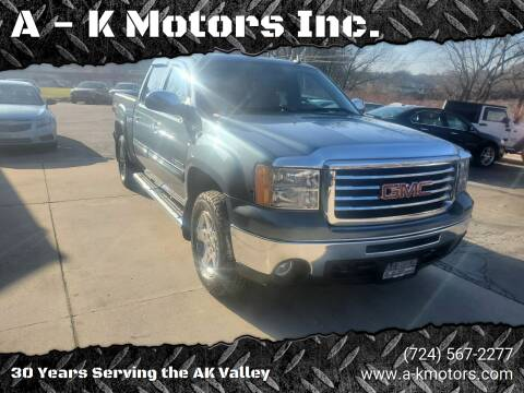 2012 GMC Sierra 1500 for sale at A - K Motors Inc. in Vandergrift PA