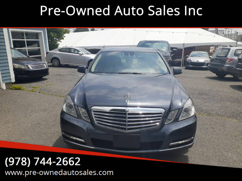 2013 Mercedes-Benz E-Class for sale at Pre-Owned Auto Sales Inc in Salem MA