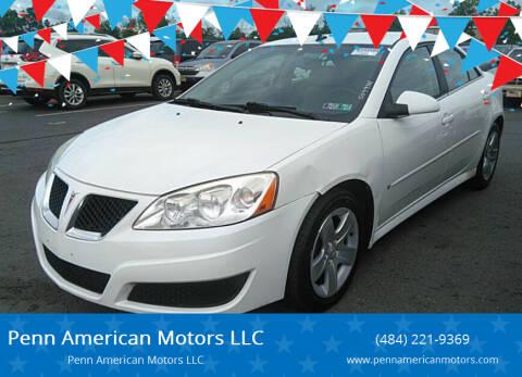 2009 Pontiac G6 for sale at Penn American Motors LLC in Allentown PA