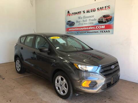 2018 Ford Escape for sale at Antonio's Auto Sales - Antonio`s  3001 in Pasadena TX
