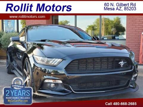 2017 Ford Mustang for sale at Rollit Motors in Mesa AZ