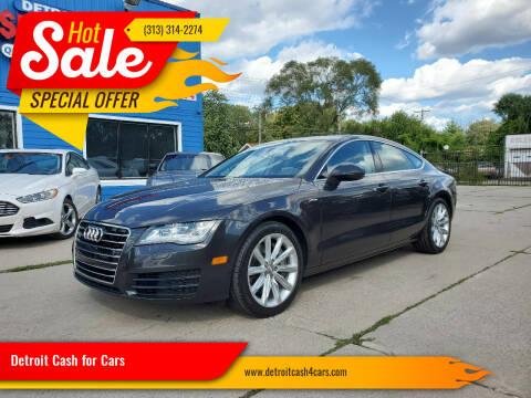 2013 Audi A7 for sale at Detroit Cash for Cars in Warren MI