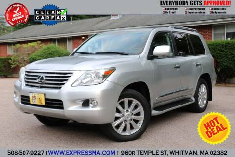2010 Lexus LX 570 for sale at Auto Sales Express in Whitman MA