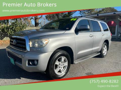 2008 Toyota Sequoia for sale at Premier Auto Brokers in Virginia Beach VA