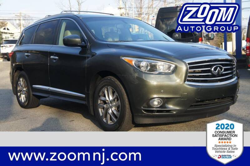 2013 Infiniti JX35 for sale at Zoom Auto Group in Parsippany NJ