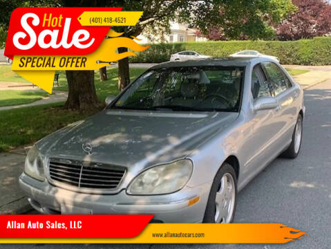 2000 Mercedes-Benz S-Class for sale at Allan Auto Sales, LLC in Fall River MA