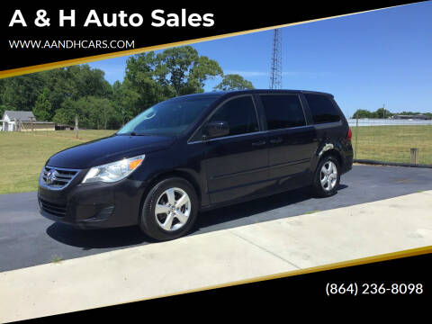 2010 Volkswagen Routan for sale at A & H Auto Sales in Greenville SC