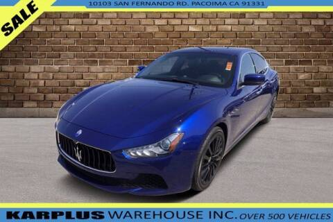 2015 Maserati Ghibli for sale at Karplus Warehouse in Pacoima CA