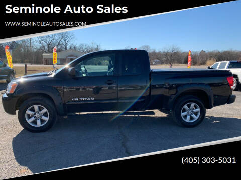 2011 Nissan Titan for sale at Seminole Auto Sales in Seminole OK