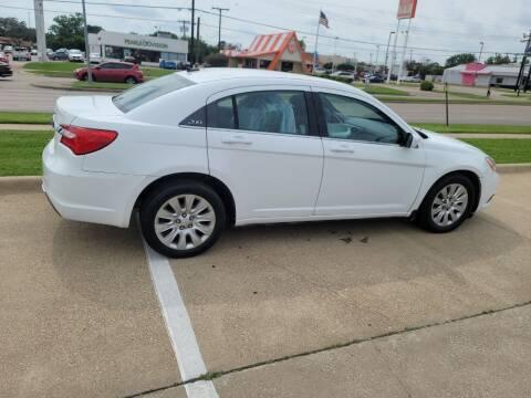 2013 Chrysler 200 for sale at El Jasho Motors in Grand Prairie TX