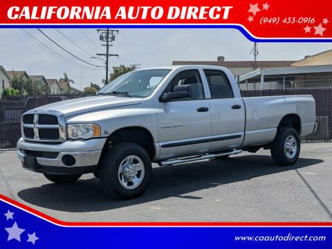 2004 Dodge Ram Pickup 2500 for sale at CALIFORNIA AUTO DIRECT in Costa Mesa CA