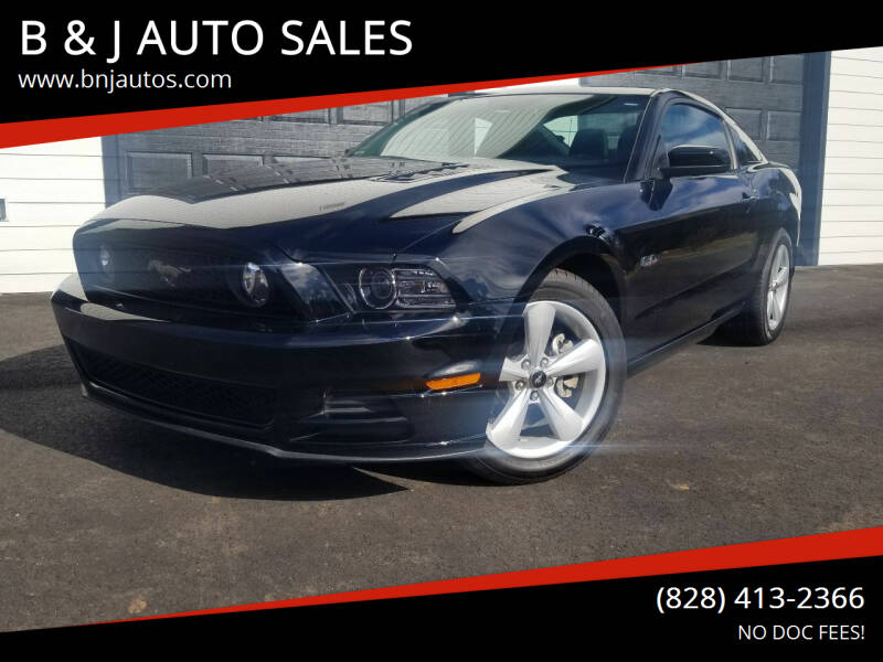 2014 Ford Mustang for sale at B & J AUTO SALES in Morganton NC