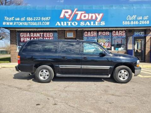 2002 Chevrolet Suburban for sale at R Tony Auto Sales in Clinton Township MI