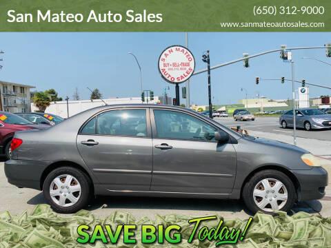 2006 Toyota Corolla for sale at San Mateo Auto Sales in San Mateo CA