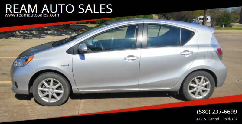 2012 Toyota Prius c for sale at REAM AUTO SALES in Enid OK
