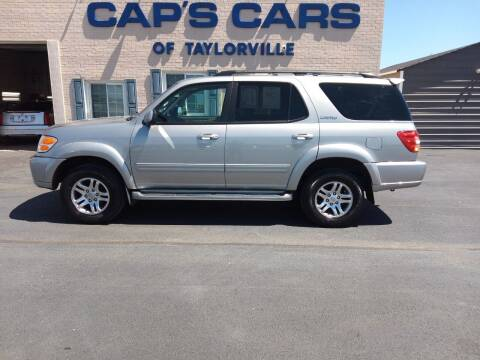 2003 Toyota Sequoia for sale at Caps Cars Of Taylorville in Taylorville IL