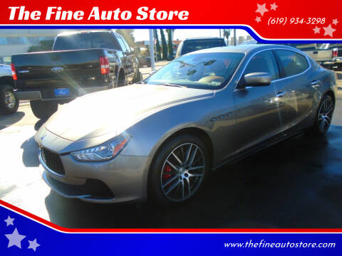 2016 Maserati Ghibli for sale at The Fine Auto Store in Imperial Beach CA