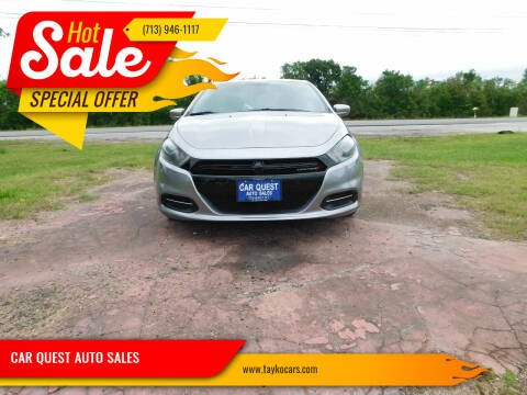 2015 Dodge Dart for sale at CAR QUEST AUTO SALES in Houston TX