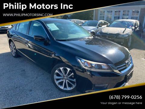 2015 Honda Accord for sale at Philip Motors Inc in Snellville GA