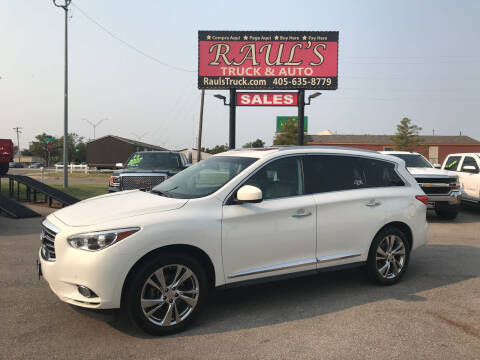 2013 Infiniti JX35 for sale at RAUL'S TRUCK & AUTO SALES, INC in Oklahoma City OK