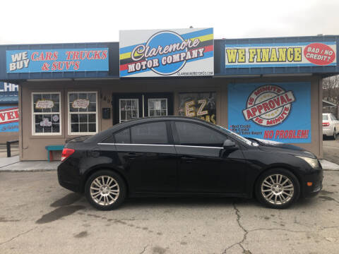 2012 Chevrolet Cruze for sale at Claremore Motor Company in Claremore OK