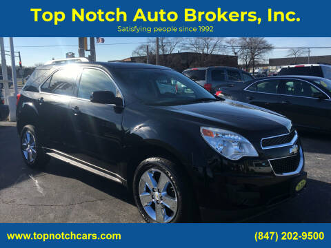 2013 Chevrolet Equinox for sale at Top Notch Auto Brokers, Inc. in Palatine IL