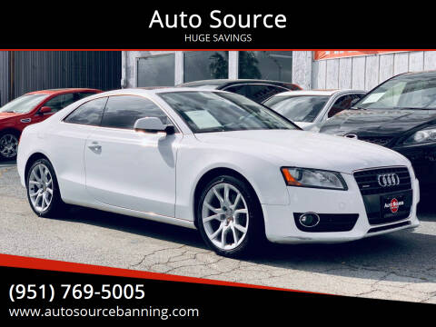 2011 Audi A5 for sale at Auto Source in Banning CA