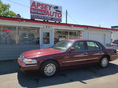 2007 Mercury Grand Marquis for sale at Apsey Auto in Marshfield WI