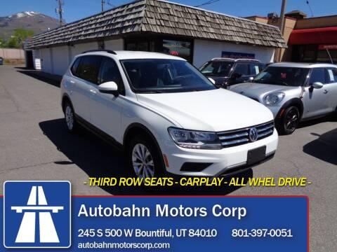 2018 Volkswagen Tiguan for sale at Autobahn Motors Corp in Bountiful UT