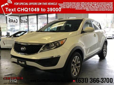 2016 Kia Sportage for sale at CERTIFIED HEADQUARTERS in St James NY
