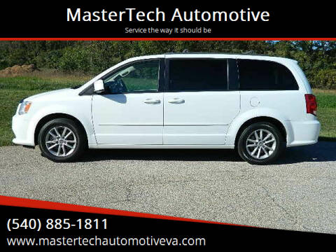 2016 Dodge Grand Caravan for sale at MasterTech Automotive in Staunton VA