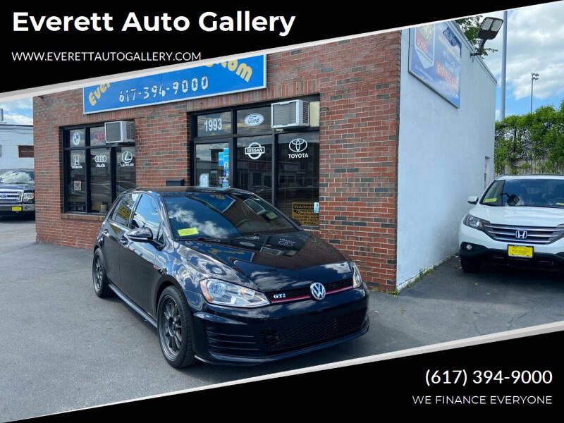 2016 Volkswagen Golf GTI for sale at Everett Auto Gallery in Everett MA