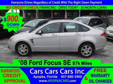 2008 Ford Focus for sale at CARS CARS CARS INC in Apopka FL