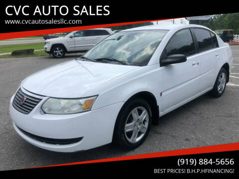 2006 Saturn Ion for sale at CVC AUTO SALES in Durham NC