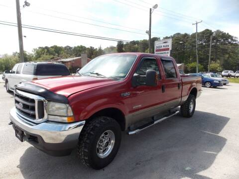 2003 Ford F-250 Super Duty for sale at Deer Park Auto Sales Corp in Newport News VA