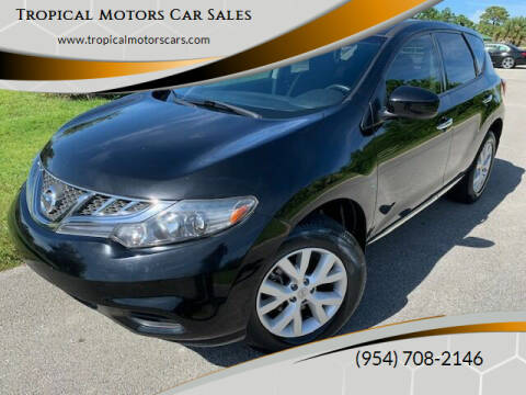 2014 Nissan Murano for sale at Tropical Motors Car Sales in Deerfield Beach FL