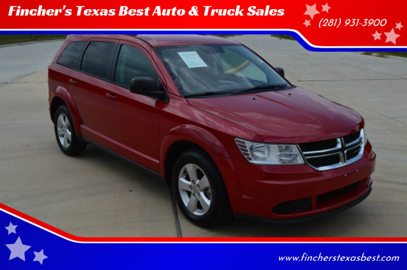 2016 Dodge Journey for sale at Fincher's Texas Best Auto & Truck Sales in Tomball TX
