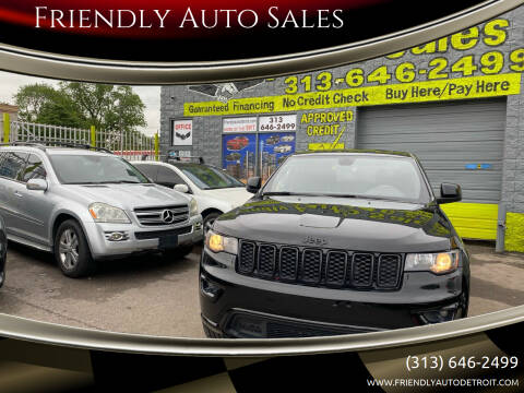 2018 Jeep Grand Cherokee for sale at Friendly Auto Sales in Detroit MI