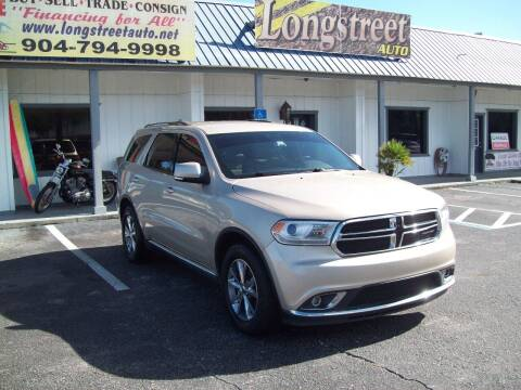 2014 Dodge Durango for sale at LONGSTREET AUTO in St Augustine FL