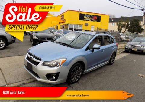 2012 Subaru Impreza for sale at GSM Auto Sales in Linden NJ