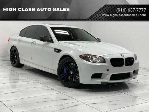 2013 BMW M5 for sale at HIGH CLASS AUTO SALES in Rancho Cordova CA