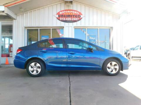 2013 Honda Civic for sale at Motorsports Unlimited in McAlester OK
